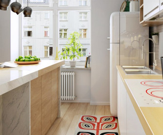 20万以上80平米公寓田园风格厨房效果图