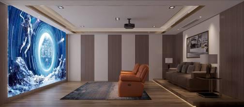 140平米别墅港式风格影音室欣赏图