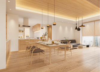 140平米一居室日式风格其他区域效果图