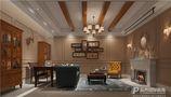 20万以上140平米别墅法式风格书房欣赏图