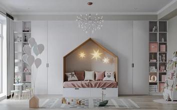 120平米三室一厅中式风格青少年房设计图