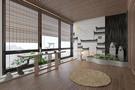 经济型120平米三室两厅中式风格阳台装修案例