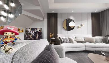 140平米四室一厅轻奢风格客厅图片