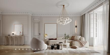 豪华型130平米法式风格客厅设计图