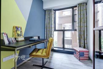 90平米三室一厅轻奢风格书房图片