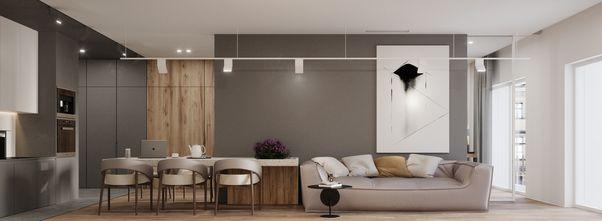 一居室公装风格客厅欣赏图