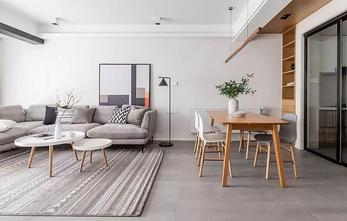 富裕型80平米三室两厅混搭风格客厅设计图