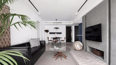 120平米三室一厅工业风风格客厅装修图片大全