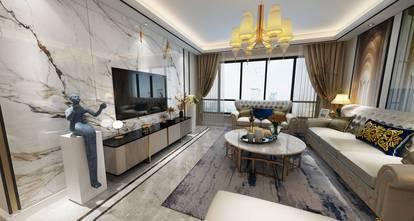 20万以上100平米三室两厅美式风格客厅图片