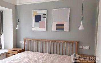 15-20万90平米三室一厅北欧风格卧室图