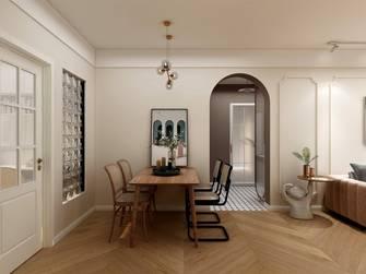 富裕型90平米三法式风格餐厅图片