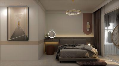 120平米三轻奢风格卧室装修案例
