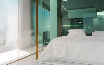 50平米一居室轻奢风格卧室装修案例