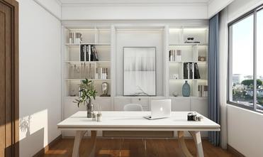 经济型90平米三室两厅北欧风格书房图