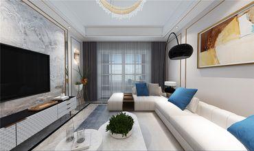 100平米三室两厅轻奢风格客厅效果图