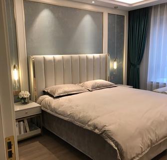 120平米三室两厅轻奢风格卧室装修图片大全