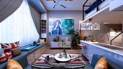 60平米一居室混搭风格餐厅图片