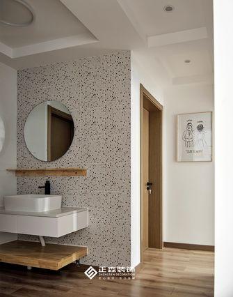 富裕型130平米三室两厅日式风格卫生间图