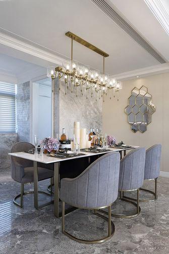 富裕型140平米四室一厅轻奢风格餐厅效果图