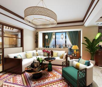 140平米三室两厅东南亚风格客厅设计图