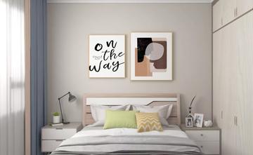 经济型90平米三室一厅田园风格卧室装修图片大全