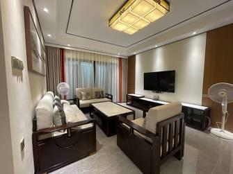 富裕型110平米三室两厅中式风格客厅图