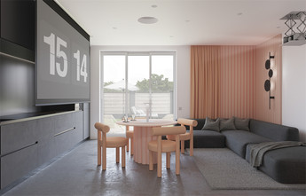 20万以上100平米北欧风格客厅装修案例