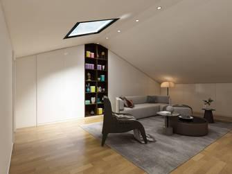 富裕型三室两厅现代简约风格阁楼图片大全