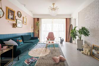 80平米三室两厅北欧风格客厅图