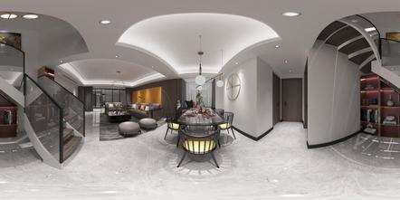 140平米四室两厅轻奢风格楼梯间图片大全