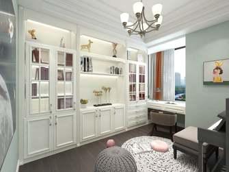 20万以上130平米四室一厅美式风格书房图