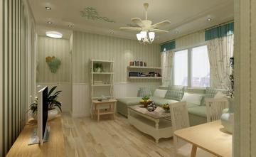 5-10万60平米公寓田园风格客厅图