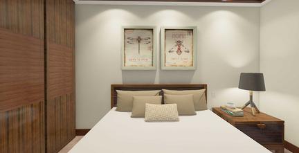 富裕型60平米东南亚风格卧室装修效果图