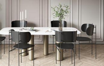 富裕型110平米四室两厅现代简约风格餐厅装修案例