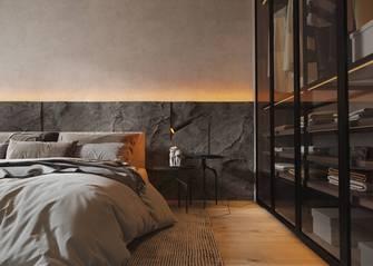 140平米三现代简约风格卧室欣赏图