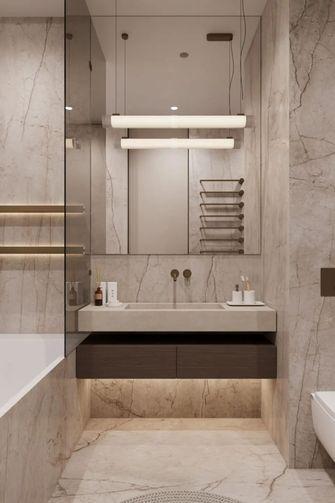 富裕型110平米三室一厅现代简约风格卫生间装修图片大全