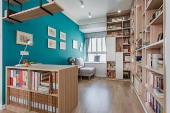 经济型90平米三现代简约风格书房图片