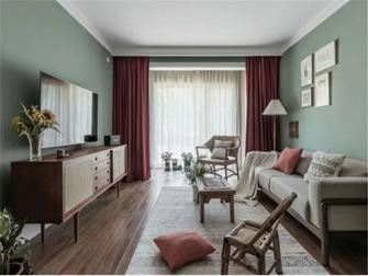 富裕型80平米田园风格客厅装修图片大全