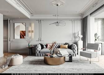 富裕型三室两厅法式风格客厅图