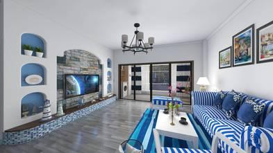 100平米三室一厅地中海风格客厅装修效果图