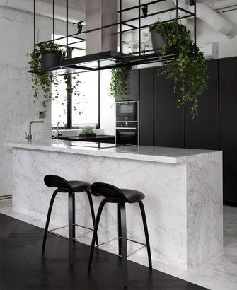 110平米三室一厅工业风风格厨房装修效果图