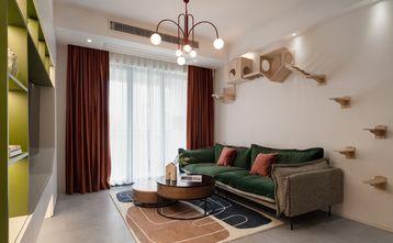 经济型80平米三室一厅混搭风格客厅效果图