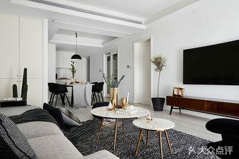 富裕型80平米三室一厅现代简约风格客厅装修案例