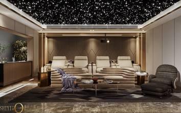 豪华型140平米别墅港式风格影音室设计图
