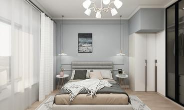5-10万90平米三室两厅北欧风格卧室装修效果图