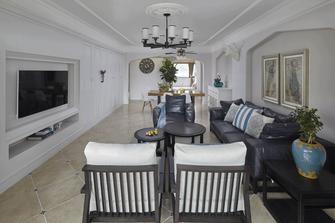 富裕型120平米三室一厅地中海风格客厅装修图片大全