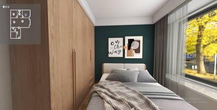 富裕型120平米三室两厅田园风格卧室设计图