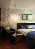 豪华型120平米三室一厅中式风格卧室设计图
