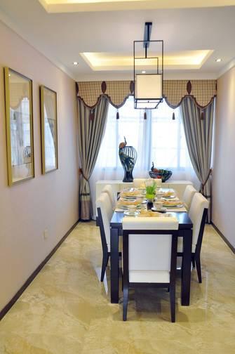 富裕型140平米三室三厅中式风格餐厅装修图片大全