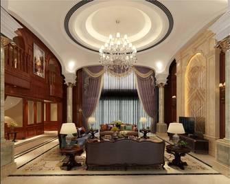 豪华型140平米别墅英伦风格客厅效果图